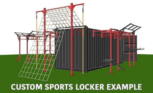 Custom Sports Locker 3d rendering