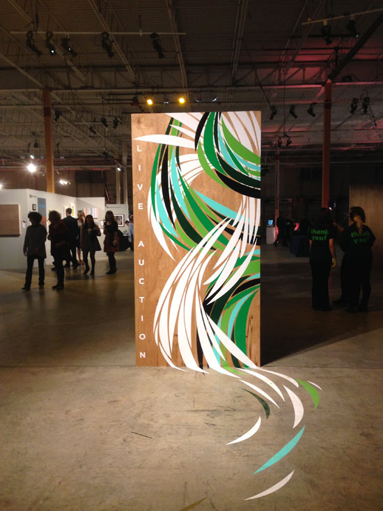 Artrageous 2015 Live Auction wall panel