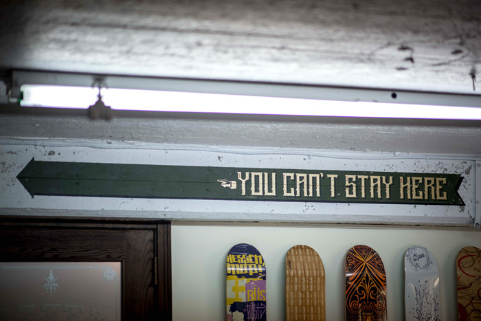 """You Can't Stay Here"" - Painted Wall Mural"