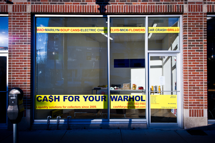 Cash For Your Warhol Window Vinyl