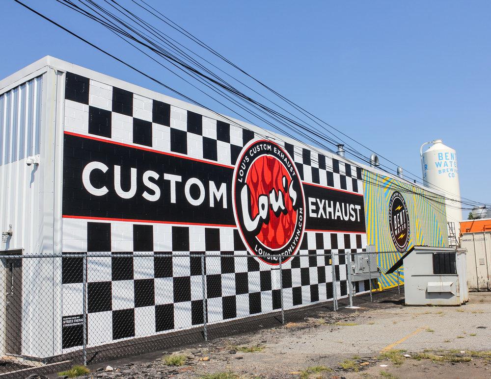 Lous Custom Exhaust >> Lou S Custom Exhaust Lynn Mural Steez Design