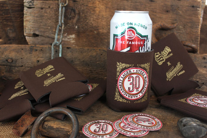 Steez x Narragansett 30th Collab Koozie with Patch
