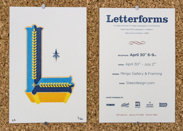 Letterforms Signed/Numbered Event Postcard