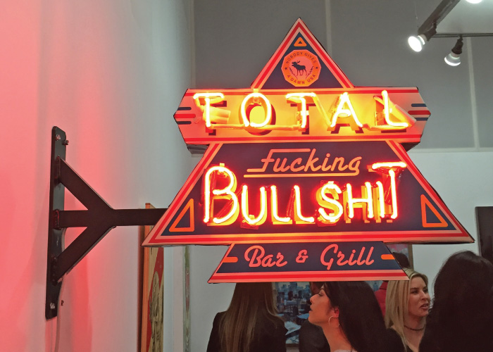 Total Bullshit Neon Sign - Blochaus Gallery - Lawrence, MA