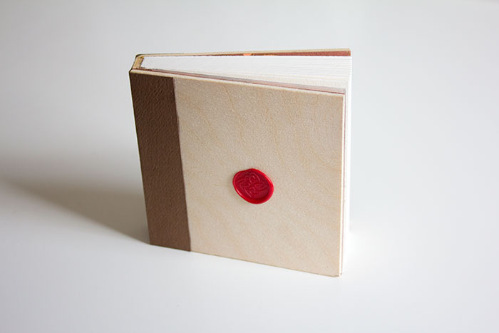 Handmade Wood Cover Book