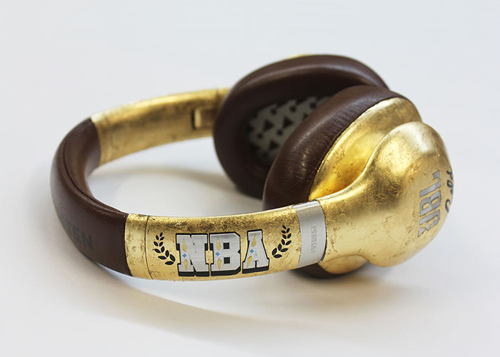 JBL Audio Custom NBA Gold Headphones