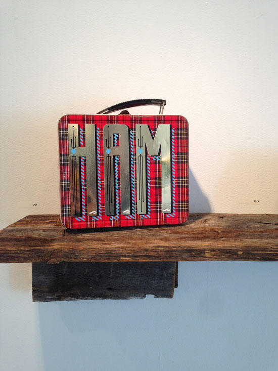 """HAM"" - Tin lunch box and vinyl"