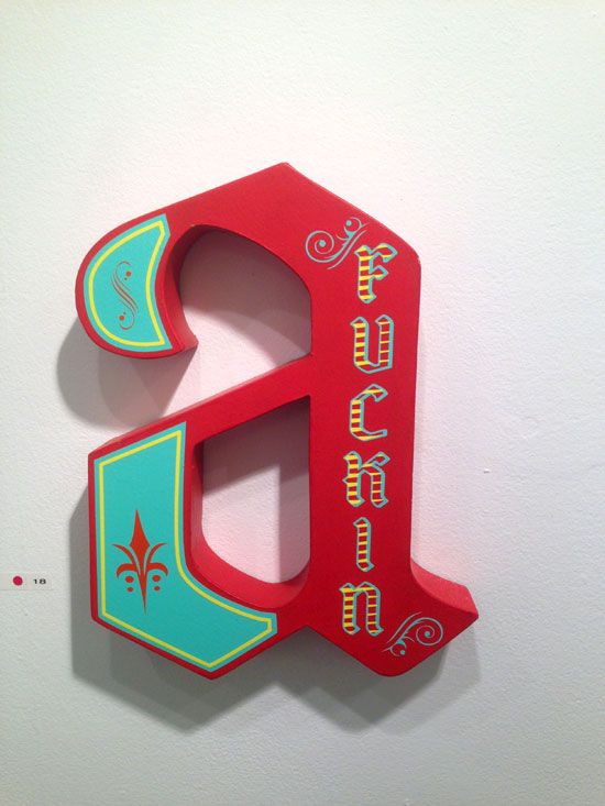 """""""Fuckin A"""" - Wooden letter with vinyl"""