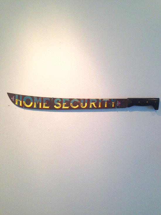 """""""Home Security"""" - Machete with vinyl"""