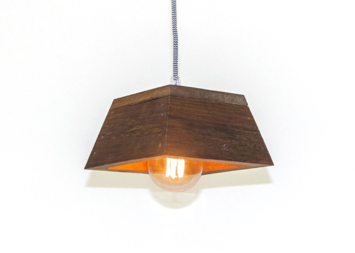 Hanging Wood Lamp