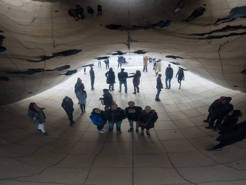 No trip to the bean is complete without a group selfie