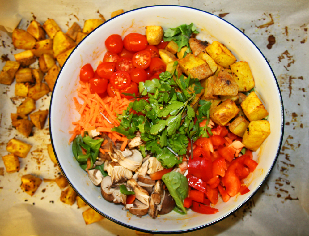 macro vegan potato bowl
