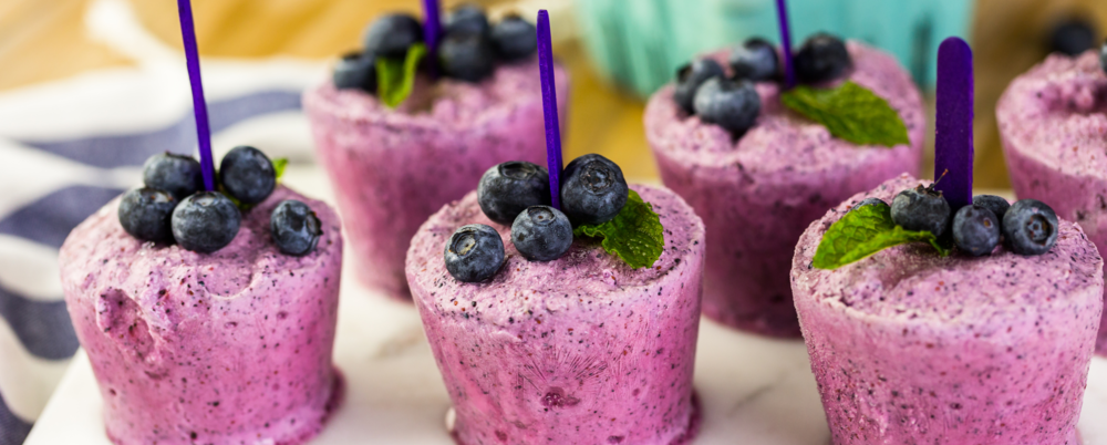 Blueberry-Lemon popsicles!
