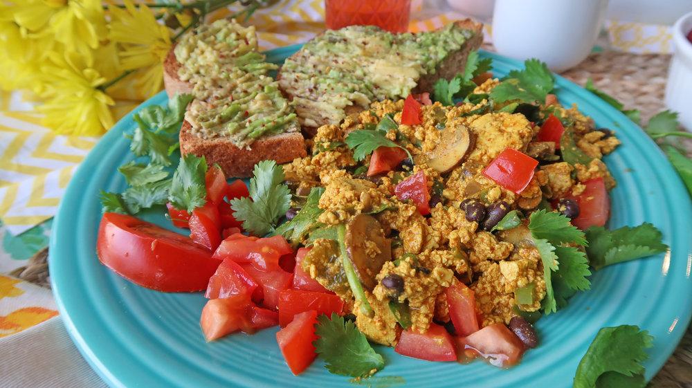 tofu scramble vegan oil-free