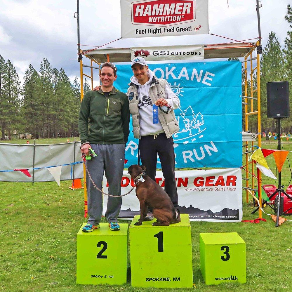 gwen on the podium spokane river 50k