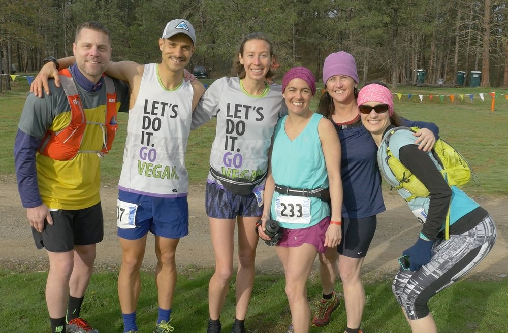 Our Sandpoint Running crew before the race!