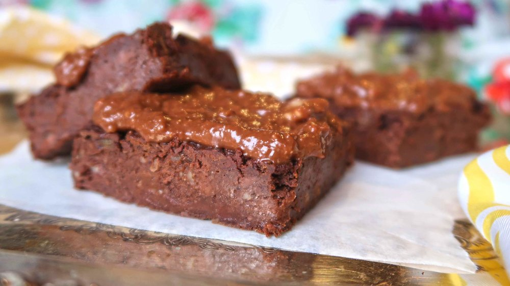 sweet potato brownies oil-free vegan