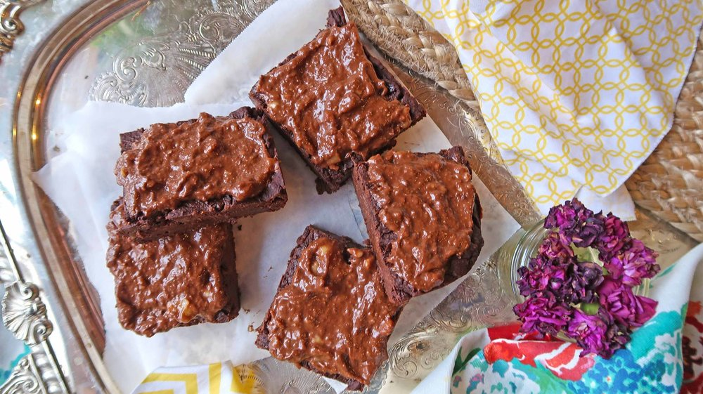 sweet potato brownies oil-free vegan top
