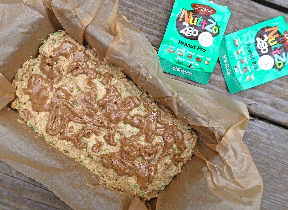 Zucchini NuttZo Bread Vegan Gluten Free uncooked
