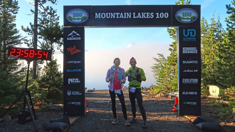 MountainLakes100 Miler finish