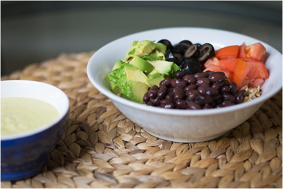 YUMM Sauce is so good on bean and rice bowls with mexican toppings!