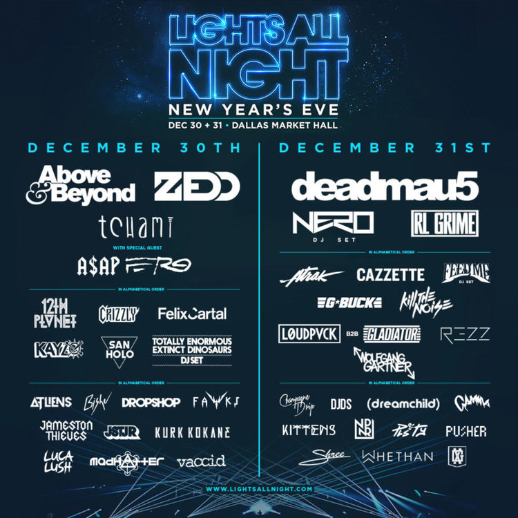 daily lineup for lights all night 2017 electric feels