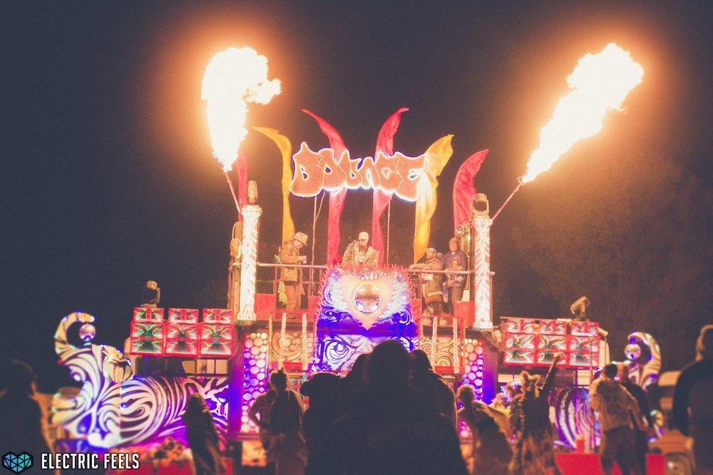 The Euphoric Bounce stage burns bright into the night  Photo Credit: Colin Eldridge
