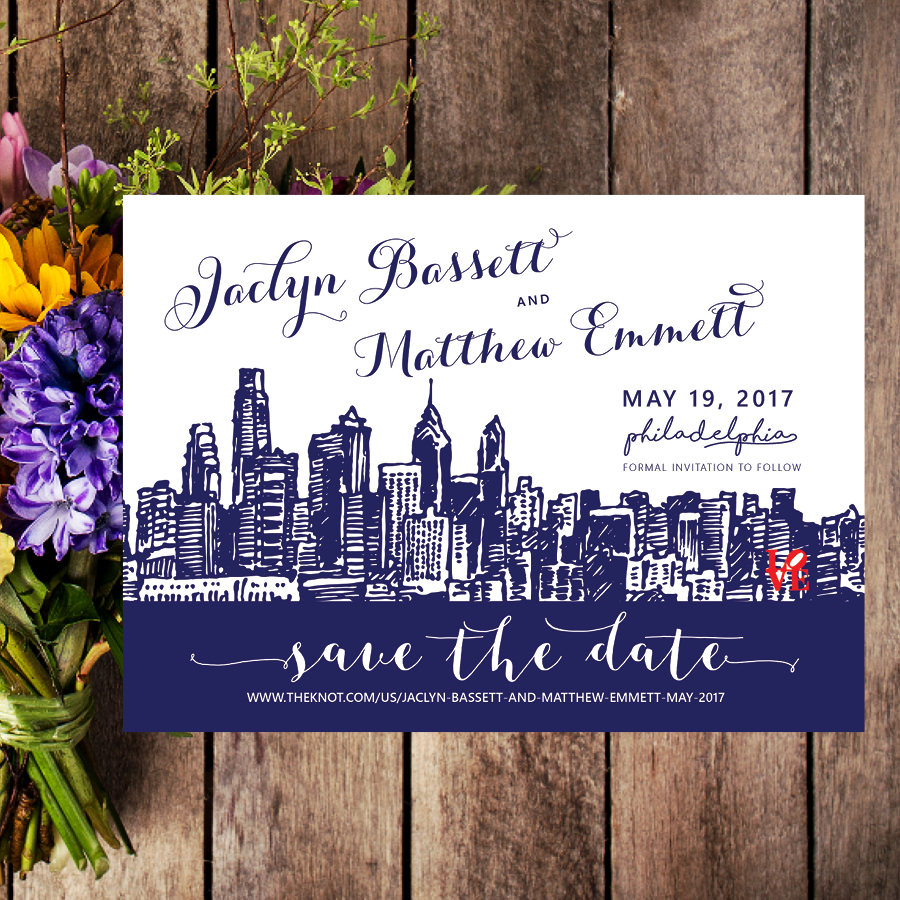 Philadelphia Wedding Invitations - From a custom Save Date Card, to your complete Wedding Invitation, Abbie's Design Studio can create your dream stationery!