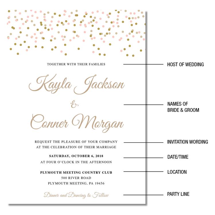 Graphic Design + Wedding Invitations, Conshohocken How to word a ...