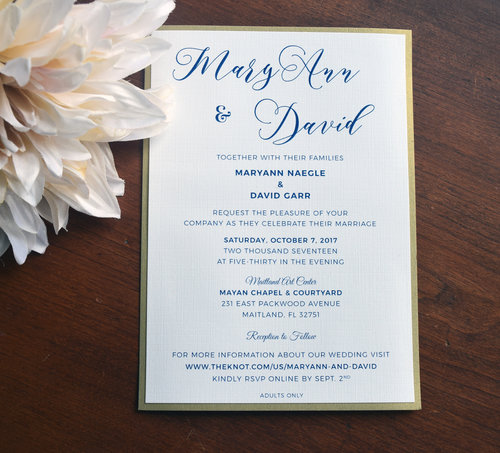Graphic design wedding invitations conshohocken view our work romantic navy blue wedding invitation stopboris Gallery