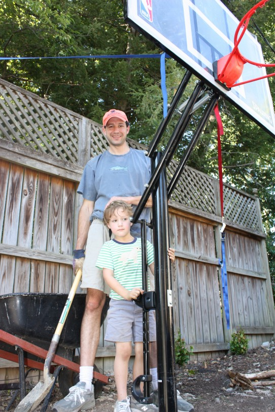 Findley and Wills have spent the last 2 weekends installing a basketball goal. It was a little harder than anticipated, but lots of fun now that it's completed.