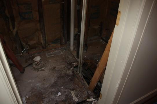 The rotten floor of bathroom #1