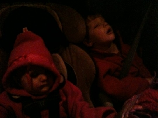 Passed out in the car while looking at Christmas lights