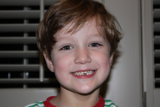 Wills lost his first tooth...