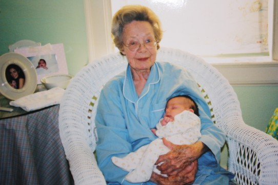 Nana with baby Virginia, October 2003