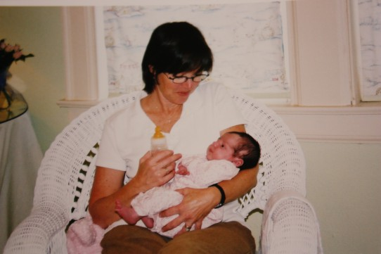 Mom with baby Virginia, October 2003