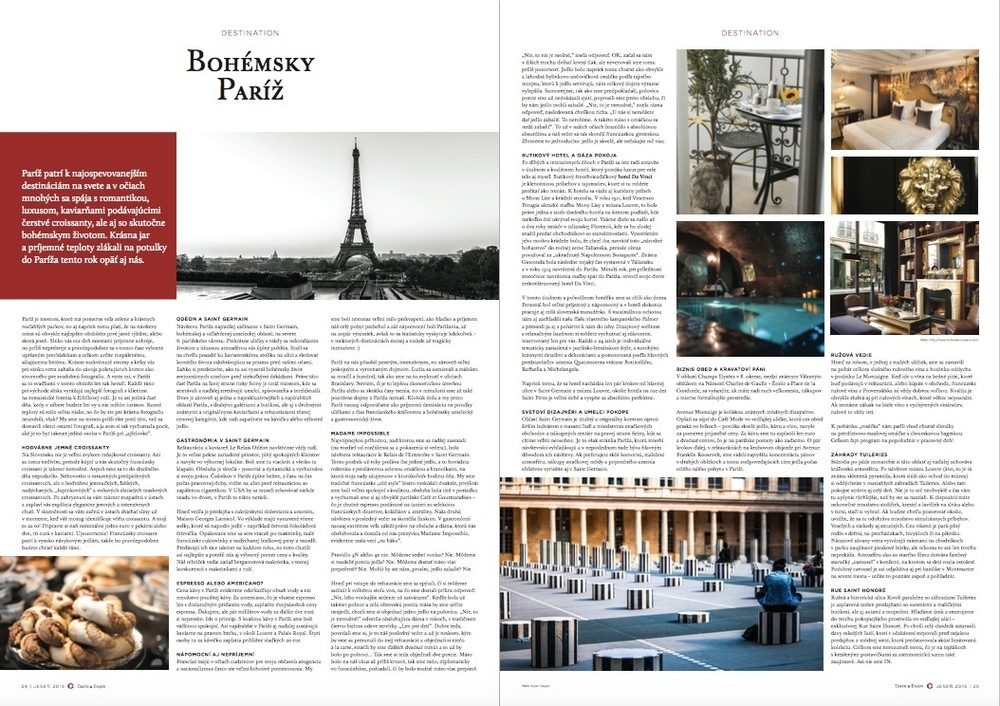 Taste & Enjoy magazine AW/2015: Paris, France - Photo by BGeigs Photography