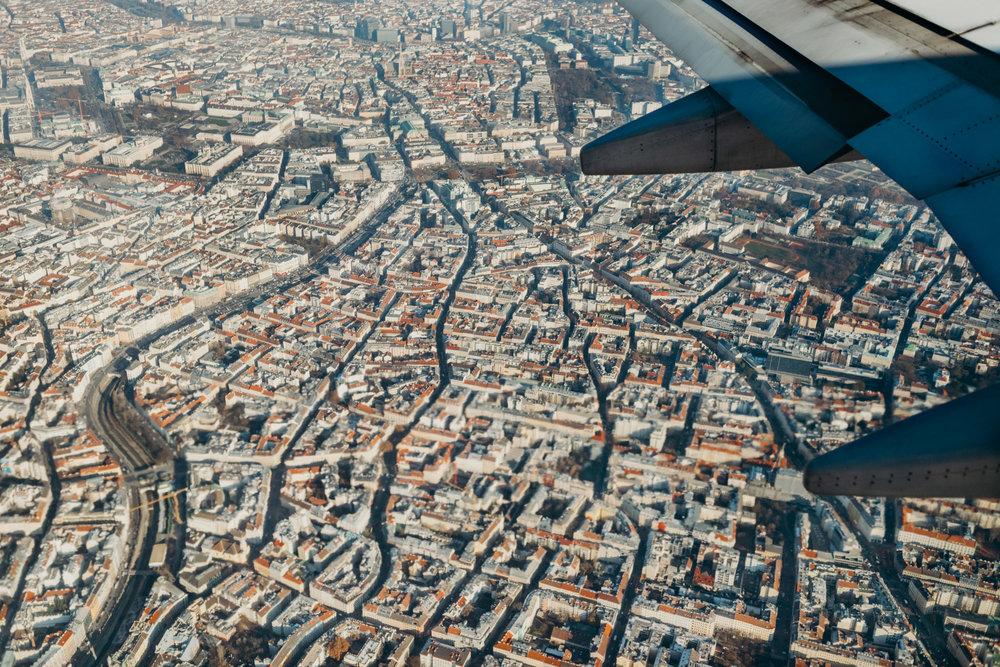 Descending over Vienna.