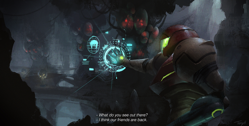 Metroid fan-art.