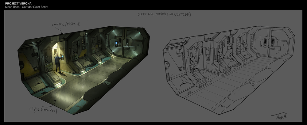 Moon base corridor module