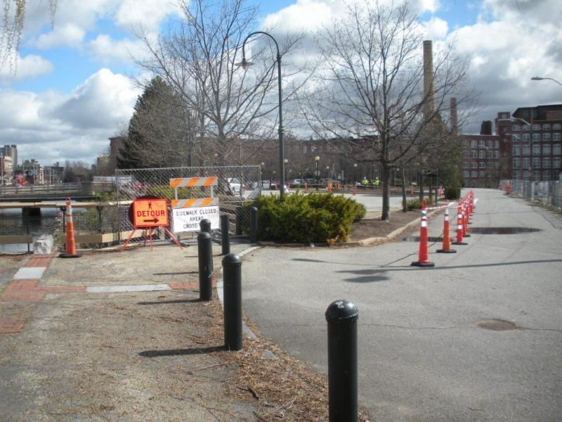 Pedestrian Detour Area