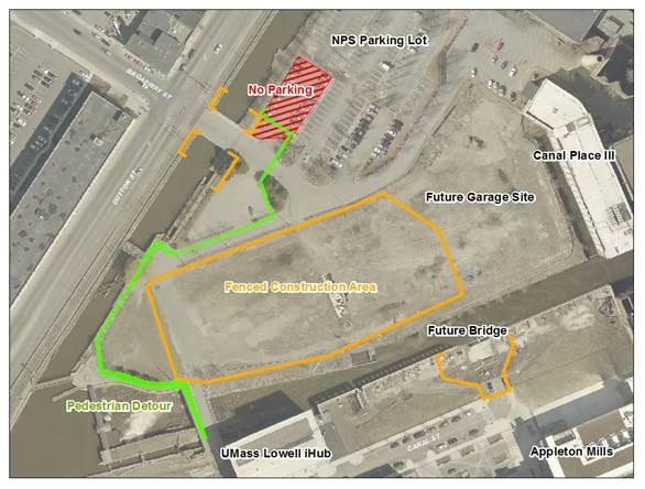 Pedestrian Detour Map