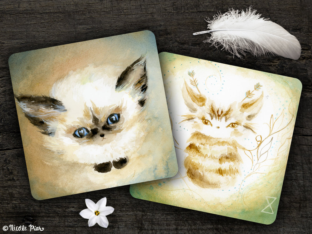 Spirit Cat Cards, by Nicole Piar