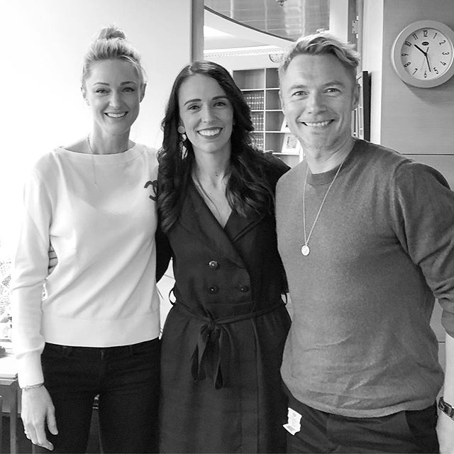 Linda Evangelista famously said she wouldn't get out of bed for less than $10,000... boy would she have missed out this morning. Getting out of bed to meet this inspiring woman, was an honour... @jacindaardern thank you so much for your time. We loved catching up with you and your family, plus what a lovely team. Look forward to watching you change the world by leading with your example. See you again soon x