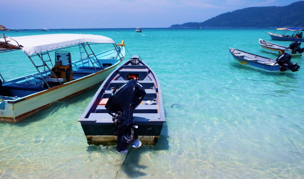 Crystal clear waters of the Perhentian Islands.