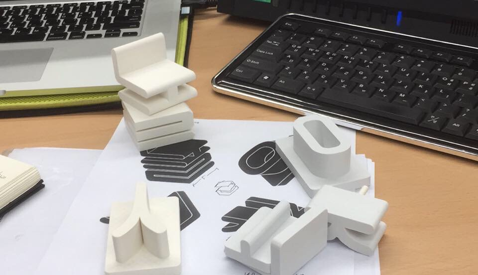 3D Printed letters using FDM 3D printer with PLA material