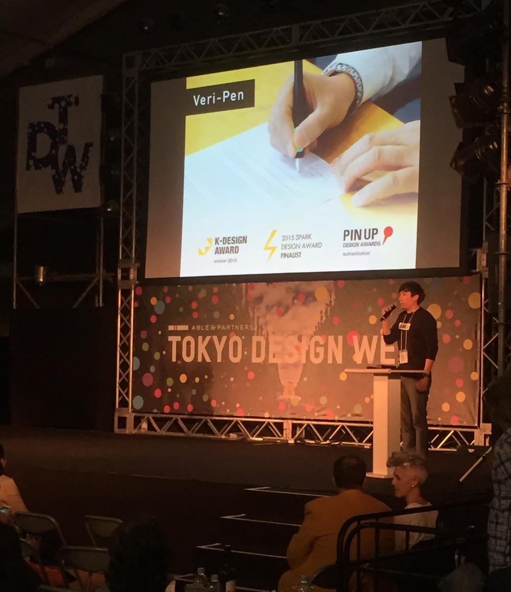 PechaKucha Talk at Tokyo Design Week main stage