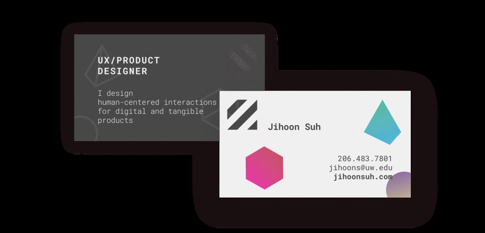 Jihoon Suh — Namecard Design