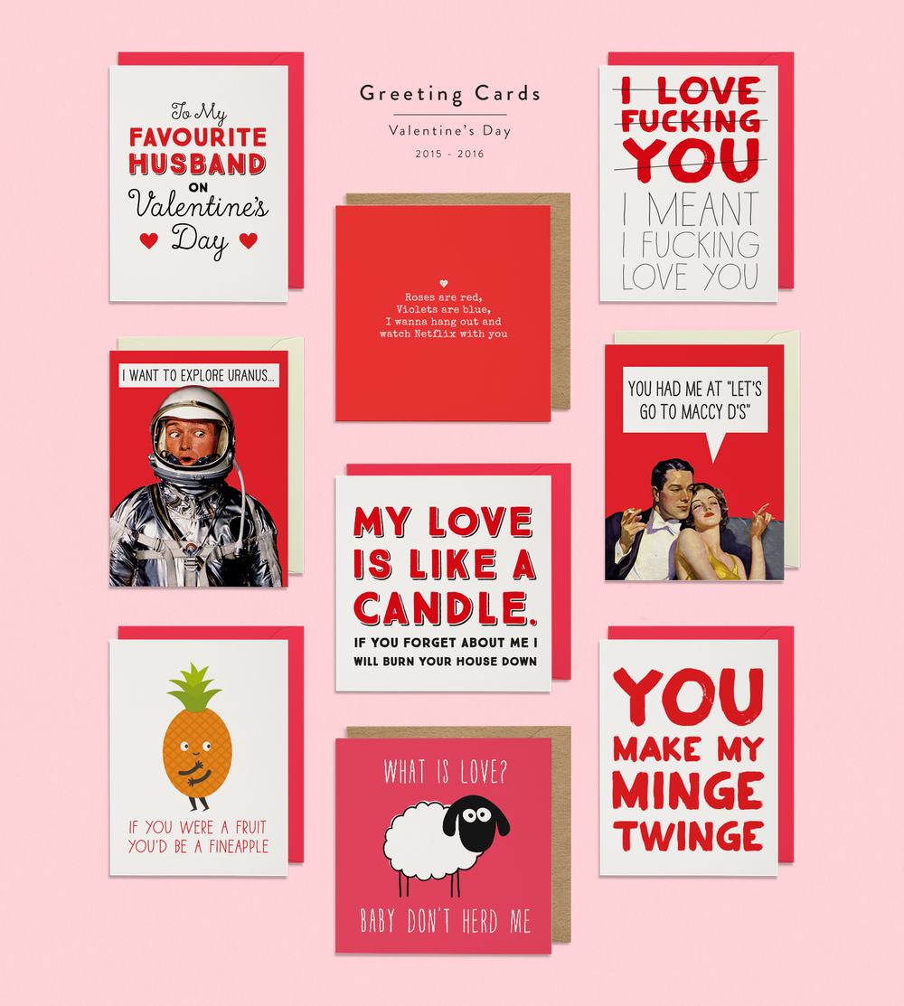 Greeting Cards / Small Selection of some of my most successful designs for Valentine's Day