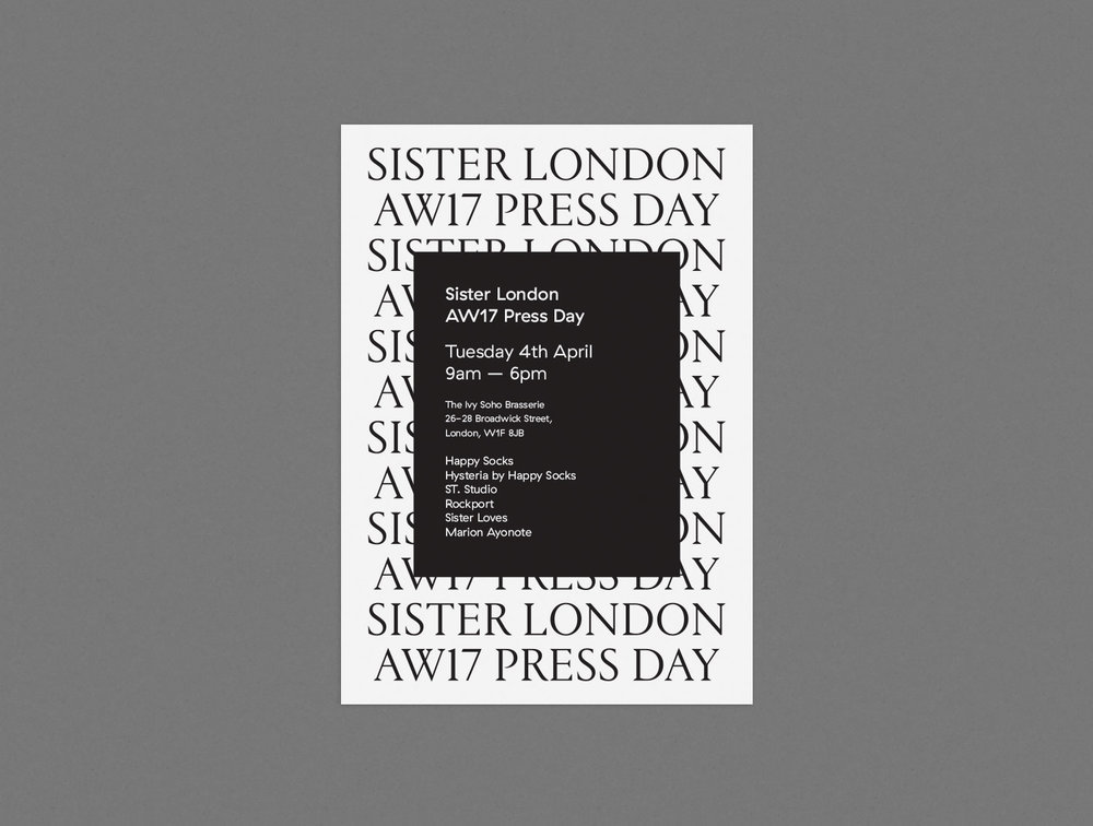 A5 Invitation Printed on 540gsm GF Smith uncoated stock with white foil typography.